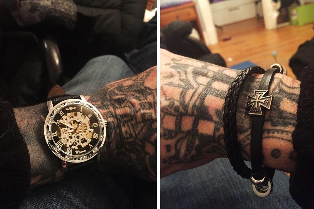 HTB1jSVgXRCw3KVjSZR0q6zcUpXaA Winner Black Golden Retro Luminous Hands Fashion Diamond Display Mens Mechanical Skeleton Wrist Watches Top Brand Luxury Clock