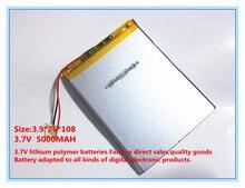 Batería de polímero de 9 pulgadas interno de la batería incorporada recargable 5000 mah batería de la tableta de 3976108 envío gratis