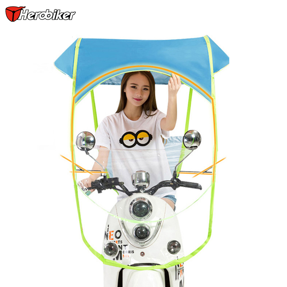 Motorcycle Cover Electric Umbrella Rain Waterproof Motorcycle Canopy Motorbike Motor Sun Visor Shade Tent Umbrella Windshield