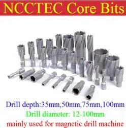 [2 ''50mm de profundidad de perforación] brocas de carburo de tungsteno de 61mm 62mm 63mm 64mm 65mm de diámetro para máquina de perforación magnética envío gratis