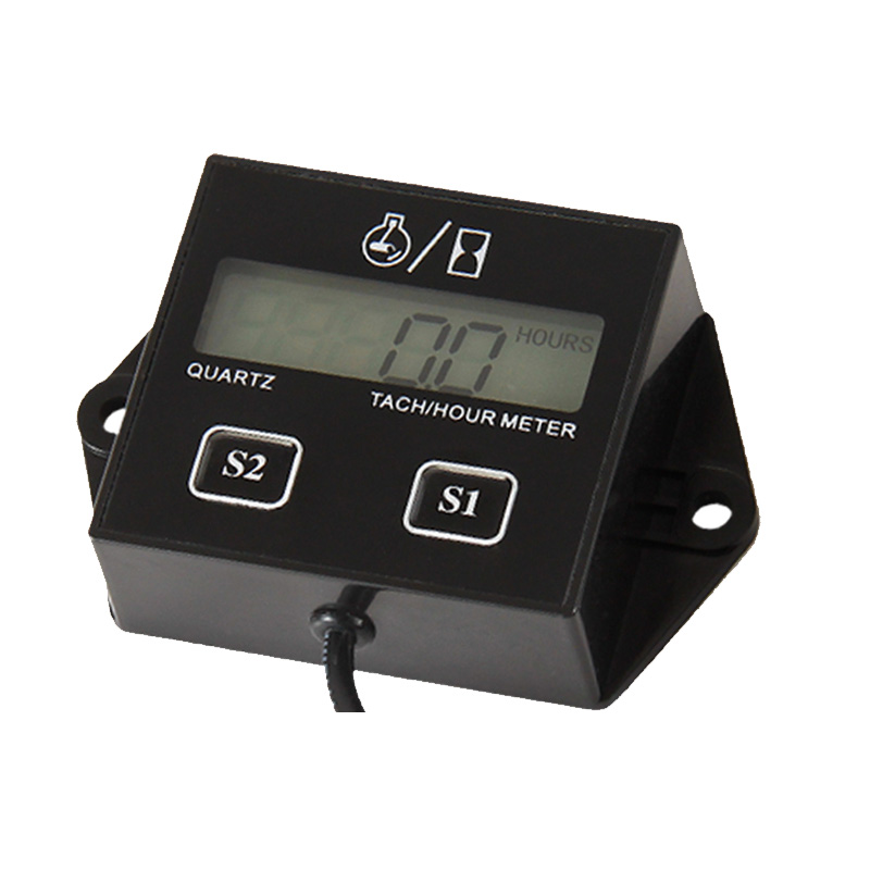 Free Shipping! Digital Resettable Petrol Engine Hour Meter Tachometer For Jet Ski,Lawn Mower,Motorcycle,ATV,Boat,Generator