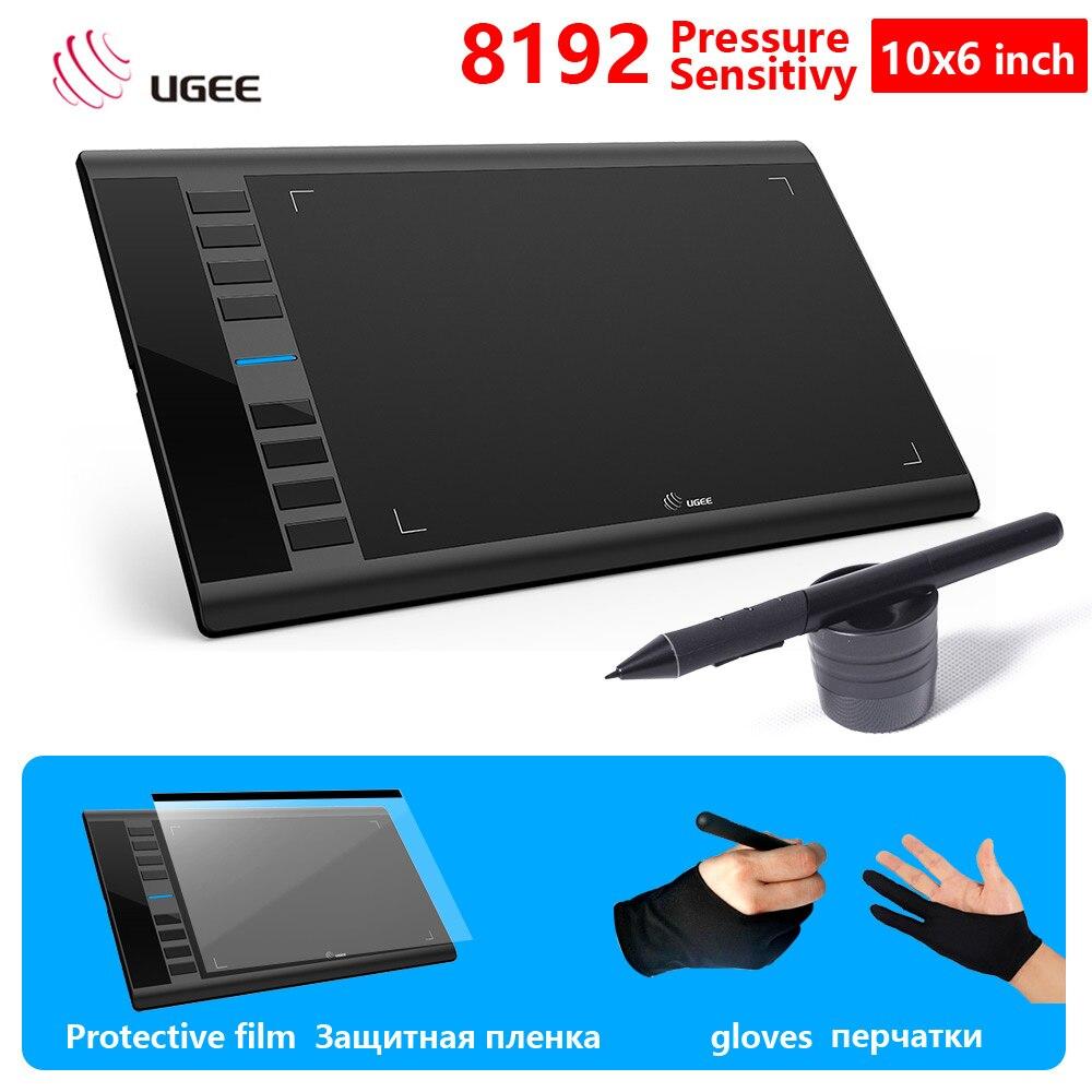 UGEE M708 Mises À Niveau version Graphique Dessin Tablets10x6 pouces Zone Active 8192 Niveau D'art Planche à Dessin Tablette D'écriture Électronique