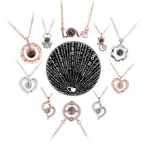 Горячее предложение проекция 100 языков я ЛЮБЛЮ ТЕБЯ ожерелье для женщин Любовь память свадьба кулон ожерелье чокер в подарок для влюбленных