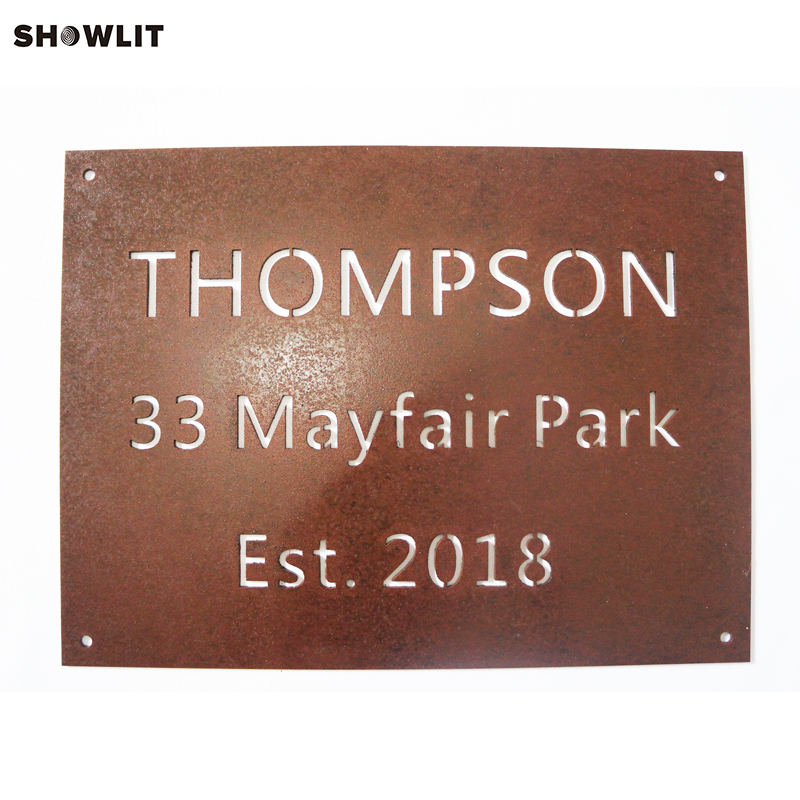 Custom Rusted House Number Address Sign александр тамоников ядовитое жало