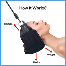 Portable Neck Hammock Traction Head for Cervical Relief Headache Shoulder Tension Muscles Pain