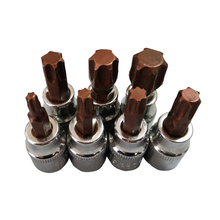 "7pcs/set 3/8"" Torx Screwdriver Bit Set Drive Socket Head Screwdriver CR-V Material Hand Tool Set T20 T30 T40 T45 T50 T55 T60(China)"