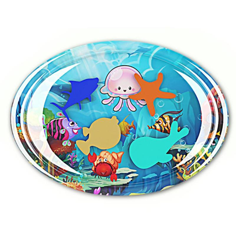 HTB1jSWiRpYqK1RjSZLeq6zXppXaG Baby Inflatable Water Play Mat Infant Gym Playmat Kids Thicken PVC Creative Dual Use Patted Pad Toy Toddler Funny Cushion Toy