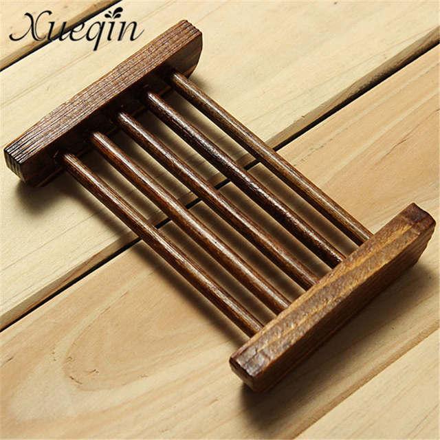 Xueqin 1 PCS Natural Wood Soap Tray Holder Dish Box Case Storage ...
