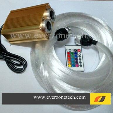 FYD-2-001 LED Double Tête Source De Lumière En Fiber Optique Lumière Kits 2*200 pcs 0.75mm * 2 m