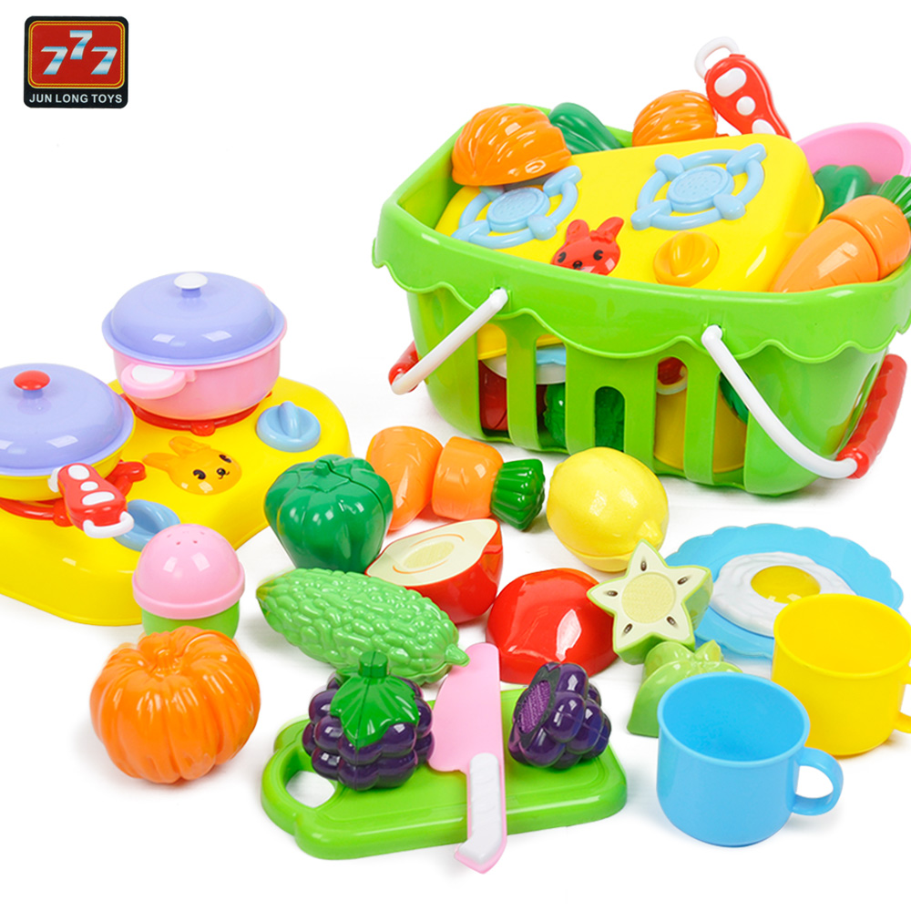 Children Vegetable And Fruit Cutting Toy Set Early