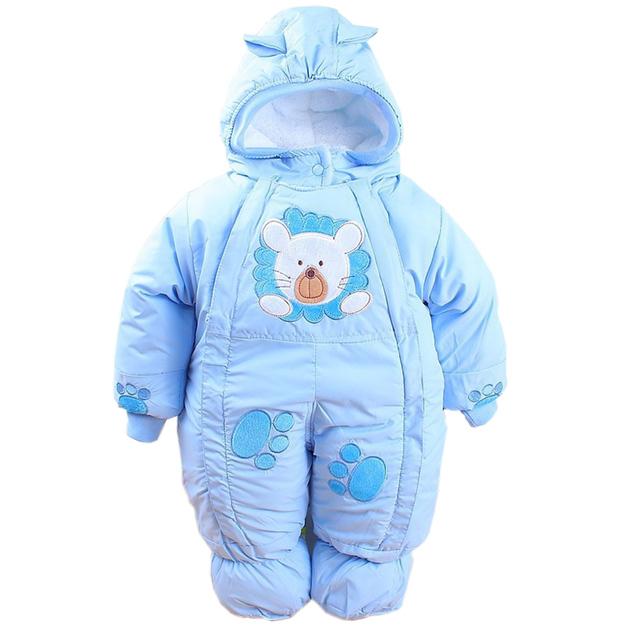 Outono & Inverno Roupa Do Bebê Recém-nascido Infantil Fleece Estilo Animais Roupas Romper Do Bebê Roupas de Algodão-acolchoado Macacão CL0437