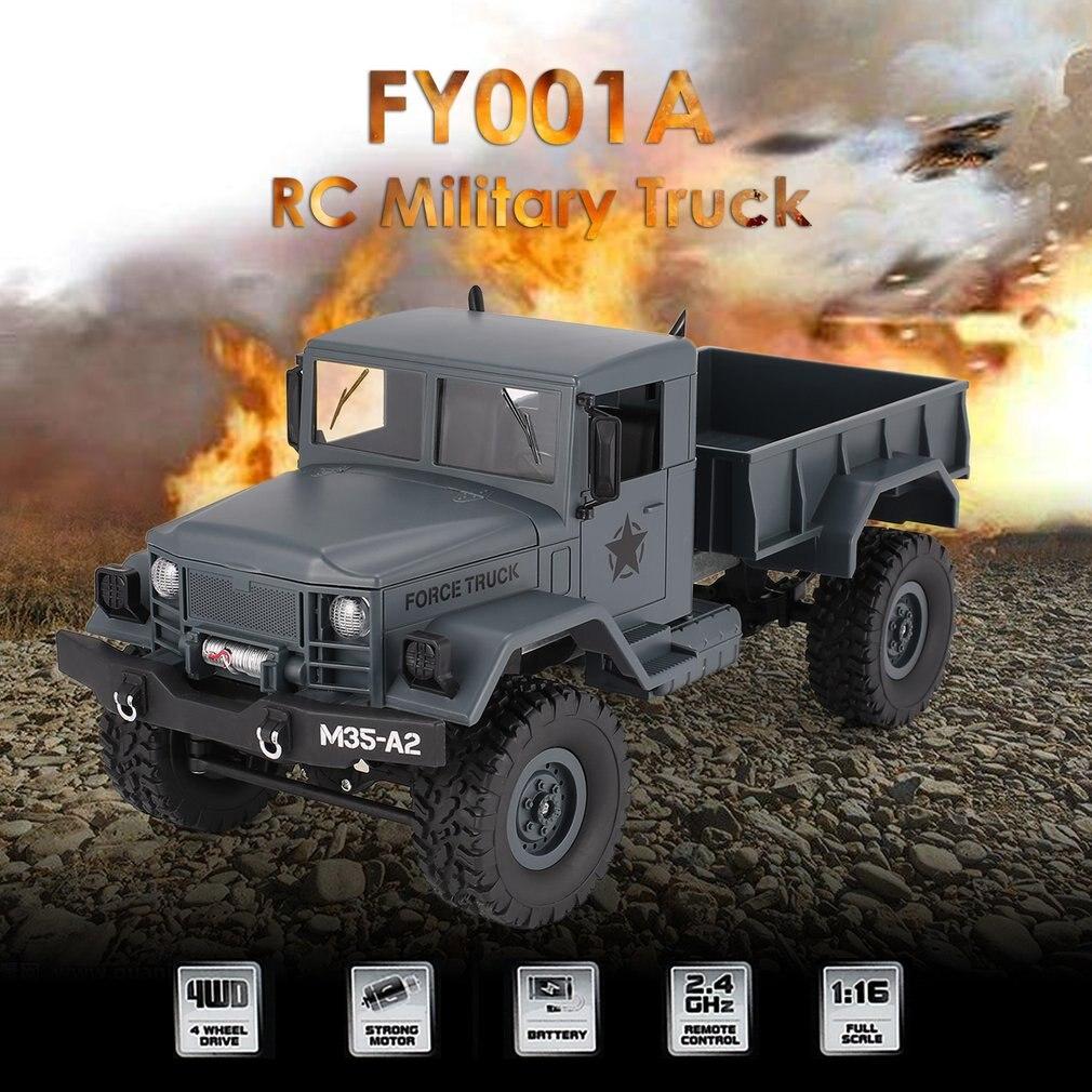 JJRC Militaire RC Camion De L'armée 2.4 Ghz 1:16 4WD Hors Route Télécommande De Voiture Grimpeur Sur Chenilles avec la Lumière Avant pour Kid Jouet Cadeau FY001A
