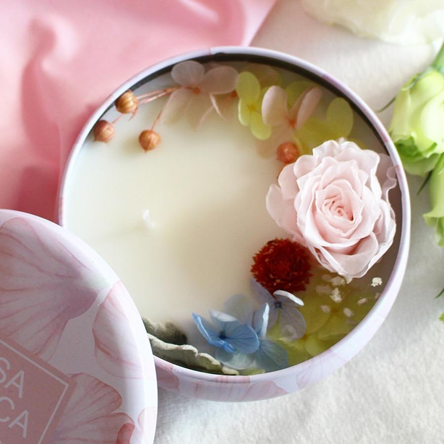 Bougies parfumées à la cire de soja bougies de décoration à la bougie en forme de fleur naturelle pour les mariages 5LZ034 - 4