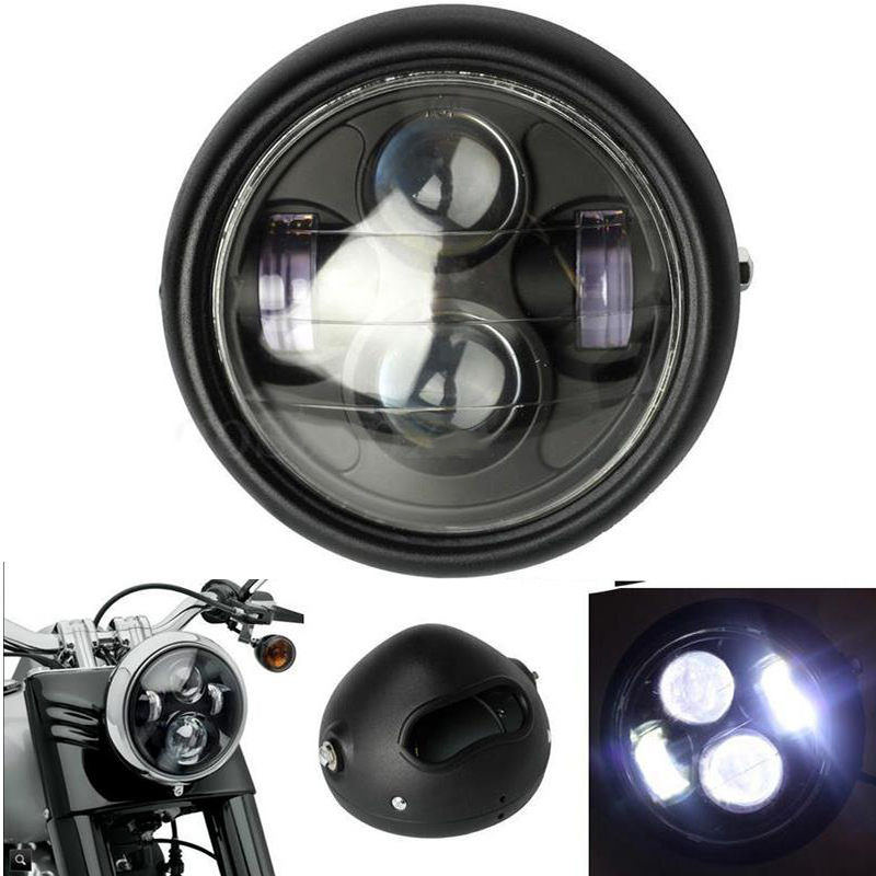 Vehemo Motorcycle Black Pure White Headlight Hi/Lo LED Light Beads Lamp Bulb Lamps