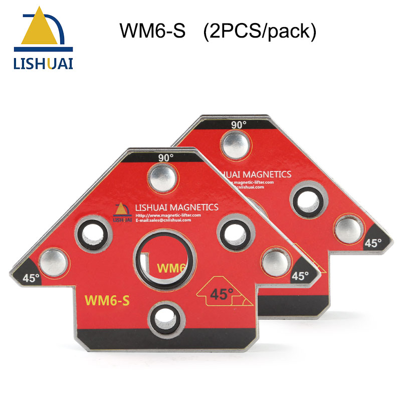 Zwei pcs/Pack Pfeil Magnethalter Neodym-magnet Schweißen Clamp Kleine Größe WM6-S
