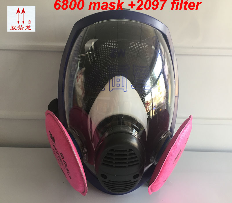 high quality respirator mask 6800 mask + 3M 2097 filter High definition Shockproof full face respirator 3m 7502 mask 2097 filter genuine high quality respirator face mask painting graffiti polished respirator gas mask