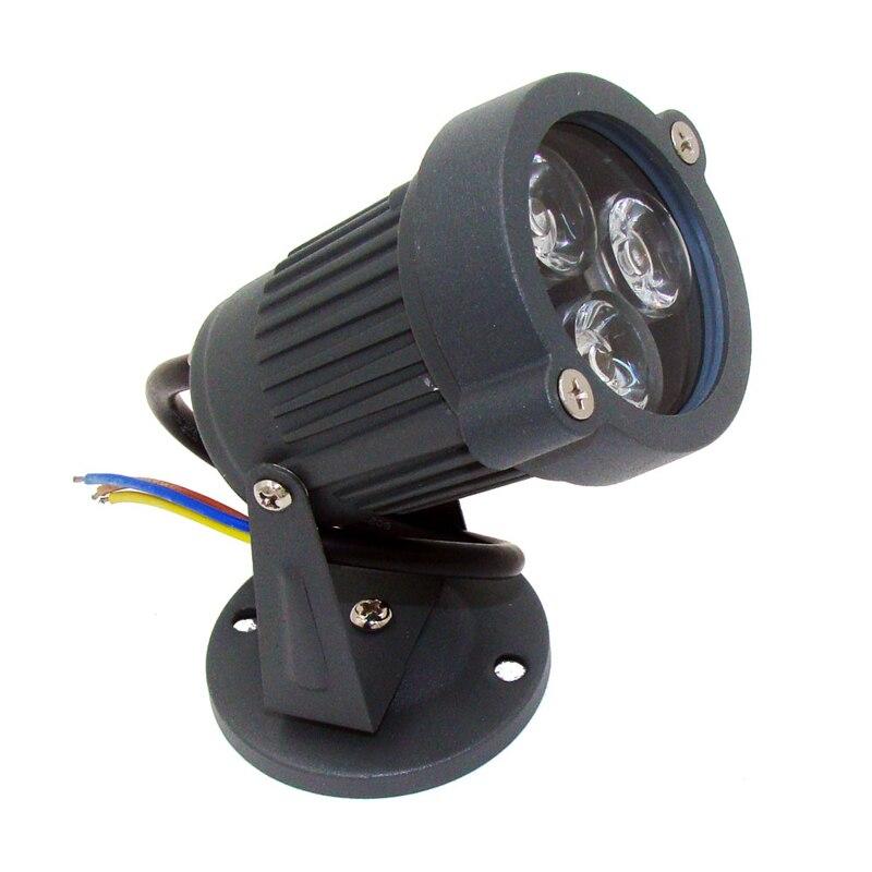 Led 3W spot φωτιστικό ip65 Εξωτερικός φωτισμός Led προβολέας οδήγησε προβολείς υπαίθρια φώτα ανακλαστήρα οδήγησε λαμπτήρα 220v 330lm σούπερ φωτεινό