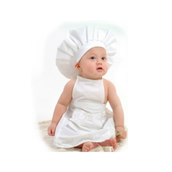 2017 new arrival chef style baby photography clothing cotton material hat cloth 2pcs set cute unisex.jpg 250x250