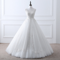 Sexy See Through Romantic Vintage Lace Wedding Dress Elegant Bride Dresses QY 1118