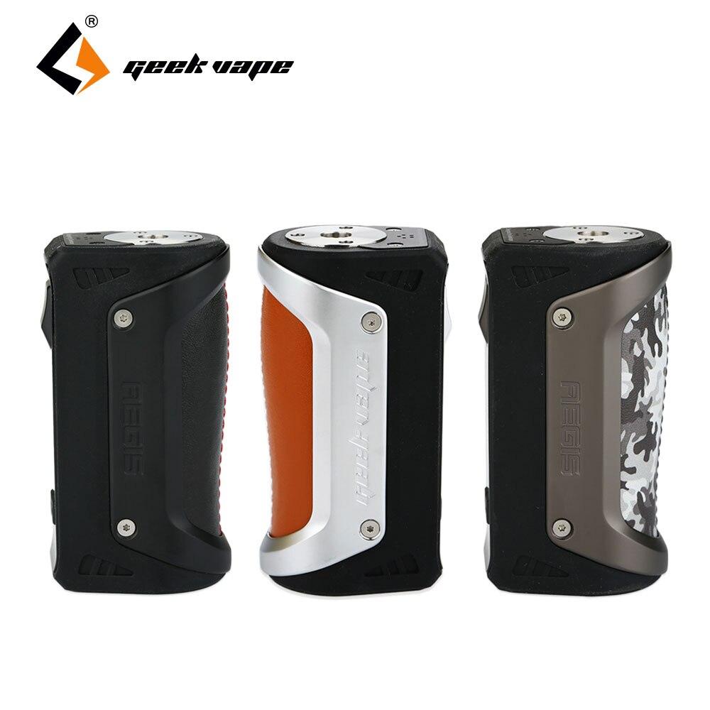 Original 100W GeekVape Aegis TC Box MOD IP67 Grade the Most Robust Vape Mod 18650/26650 Battery for E Cig Atomizer no Battery