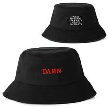 78729b4276 2018 mais novo preto balde chapéu para as mulheres homens DROGA bordado  pescadores chapéu da forma chapéu de balde caps marca ch.