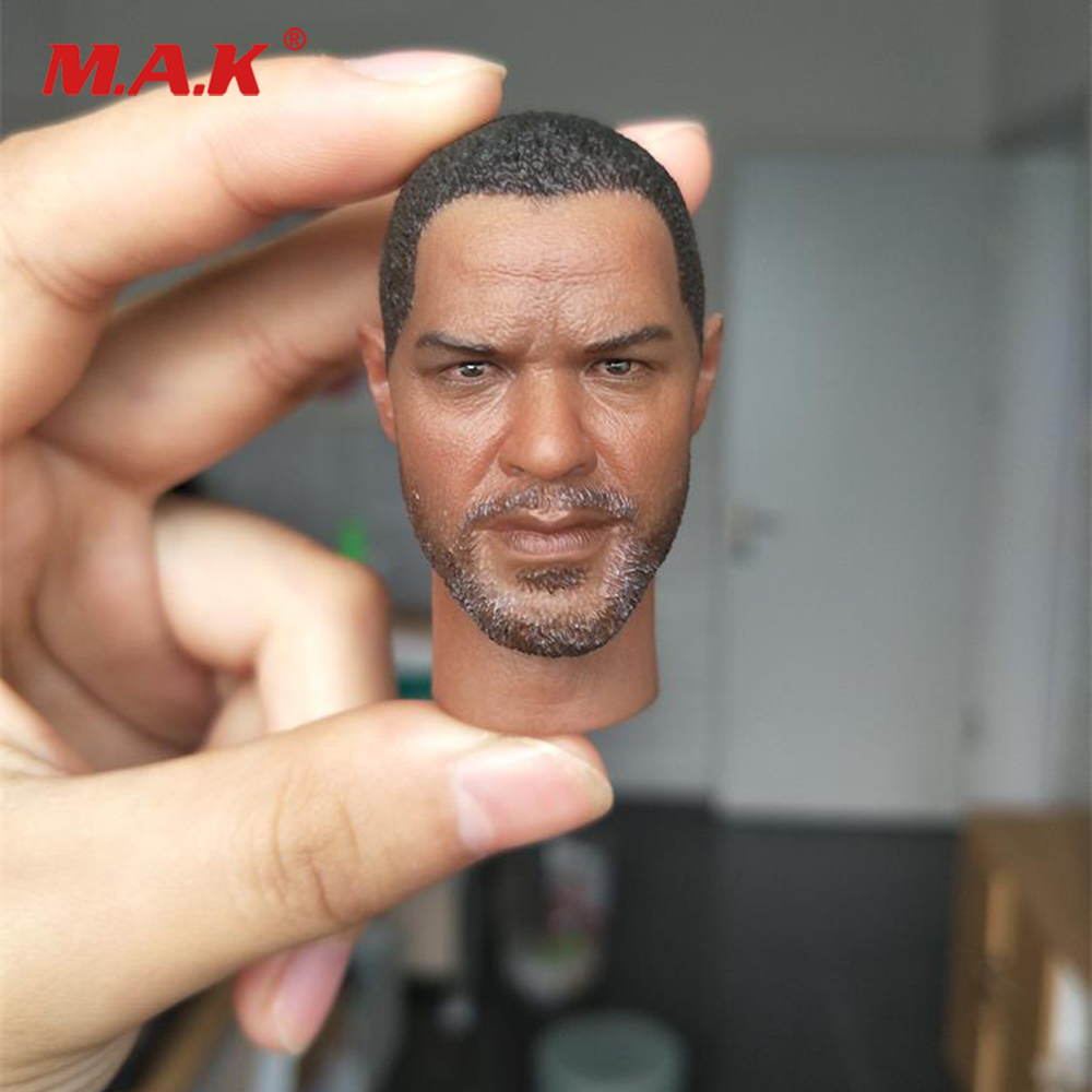 1/6 Scale Male Head Sculpt A12 Denzel Washington Head Carved Model for 12'' Male Figure Body Accessory image