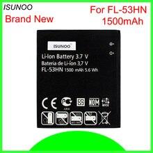 ISUNOO 5 шт./лот 1500 мАч FL-53HN Батарея для LG Optimus 2X P990 P993 P920 P999 SU660 Батарея