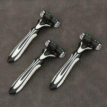 Профессиональная бритва, бритва для мужчин, 3 шт./партия, 6 лезвий, Бритва для мужчин, для индивидуального бритья, нержавеющая сталь, безопасные бритвенные лезвия DORCO