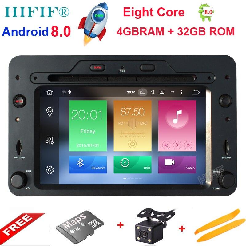 Android 8.0 Octa Core 4 gb RAM Voiture DVD GPS Navigation Lecteur Autoradio pour Alfa Romeo Spider 2006 Radio unité centrale Bluetooth WIFI