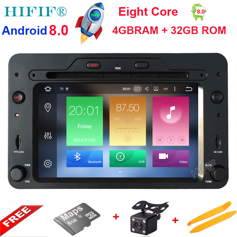 Android 8.0 Octa Core 4GB RAM Car DVD GPS Navigation Player Car Stereo for Alfa Romeo Spider 2006 Radio headunit Bluetooth WIFI