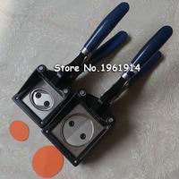 새로운 핸드 헬드 수동 라운드 37mm 25mm 32mm 44mm 용지 그래픽 펀치 다이 커터 프로 버튼 메이커|cutter for paper|cutter diecutter round -