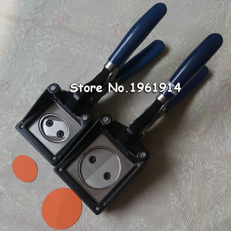 NEW Hand Held Manual Round 37mm 25mm 32mm 44mm Paper Graphic Punch Die Cutter for Pro Button Maker