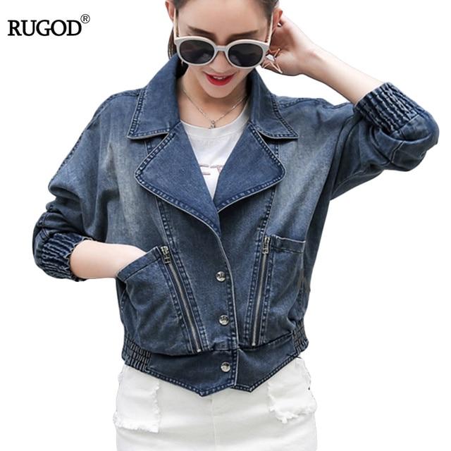 82b410b38 Mulheres da moda jaqueta jeans plus size vintage cropped jeans curto denim  casacos da longo-