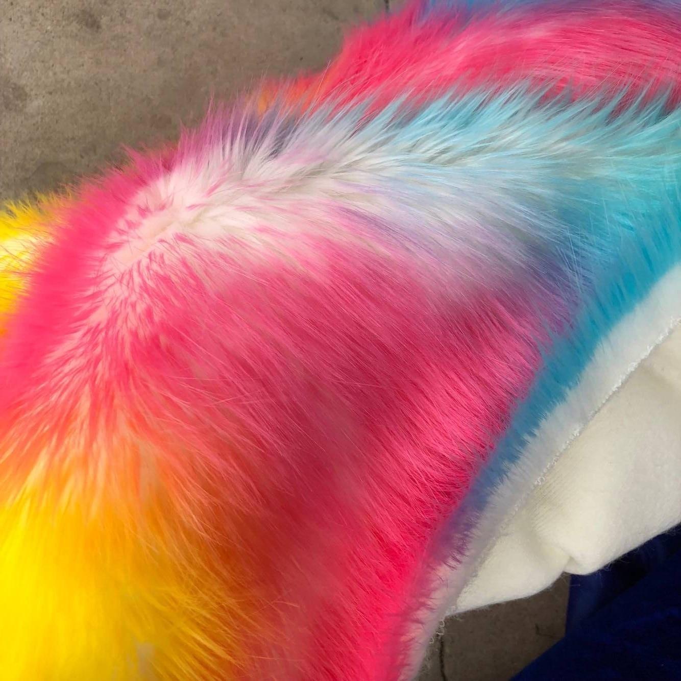 Imitation fourrure de renard de haute qualité, tissu de velours en peluche, matériau de tapis décoratif en tissu de poupée, tissu en fausse fourrure, 160 cm * 45 cm (demi-cour)/pcs
