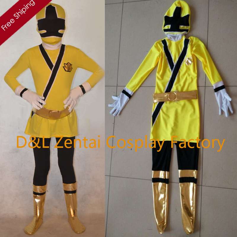 Free Shipping DHL Cheap Yellow Multi Color Kids Full Body Superhero Lycra Zentai Costumes Halloween Costume DG1534