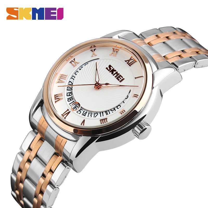 New Arrival SKMEI Luxury Men Business Quartz Watches Full Steel Wristwatch Fashion Waterproof Sport Watch relogio masculino read luxury golden automatic mechanical watches men fashion watch for men wristwatch waterproof full steel relogio masculino new