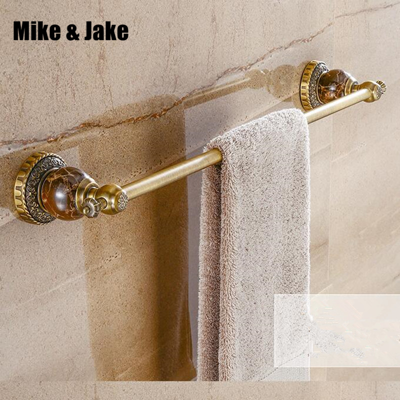 Antique brass bathroom single jade towel bar 50cm shelf bathroom shelf towel holder bathroom black towel shelf accessories 8008 nail free foldable antique brass bath towel rack active bathroom towel holder double towel shelf with hooks bathroom accessories