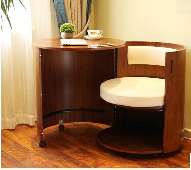 Bedroom. European Computer Desk. Removable Wood. Save Desk Space