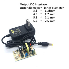 Outer diameter 3.5/4.0/5.5mm 100-240V AC to DC Power Adapter Supply Charger Adapter 12V 1A US Plug for Switch LED Strip Lamp недорого