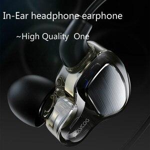 Image 1 - Kopfhörer 3,5mm mit Mikrofon Draht Headset für SAMSUNG Galaxy S9 huawei xiaomi mit Hybrid Fahrer Rennen Gehen neue arten