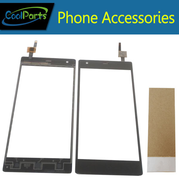 1PC/Lot High Quality For Micromax Q462 Touch Screen Digitizer Touch Panel Lens Glass With Tape Replacement Part Black Color