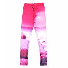 Pink Sunset Design Beach Leggings