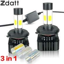 2Pcs 120W 12000LM H4 Led Headlight Bulbs Hi Lo Beam High Power Cob Led 12V Super Bright Car LED Light 3000K 6000K 8000K