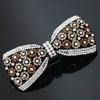 High Quality Bow Women Hair Clips Trendy Design Rainbow Color Crystal Hairpin Jewelry B1260 3