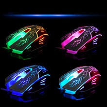 New 2016 LED  Pro Gamer 6D USB Wired Gaming Game USB Wired Adjustable Gaming Mouse For PC computer Laptop