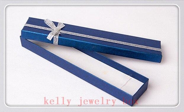 Wholesale 48pcs Lot 20x4x2cm Dark Blue Bowknot Jewelry Box Cute