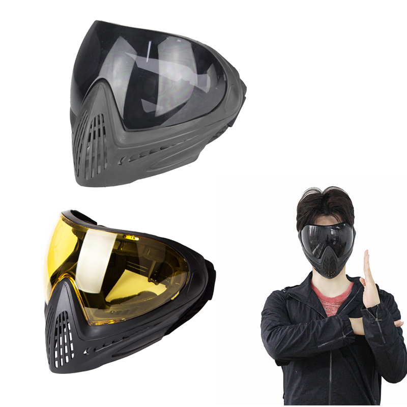 FMA F1 Tactical Anti-fog Safety Goggle Full Face Mask Airsoft Paintball Shock Resistance Protective Eyewear Mask Accessory tactical military new soft pe anti fog dual lens dual belts paintball mask comfortable full face protective for cs war games