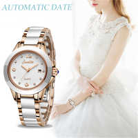 Relógios de ouro rosa sunkta2019 da marca de luxo superior das mulheres novas senhoras ultra-fino relógio de moda boutique menina senhoras assistir
