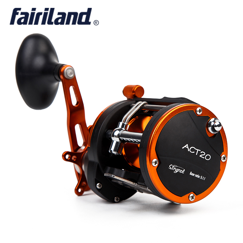 4BB RIGHT HAND 5.1:1 Fairiland Drum Trolling Reel 12Kg Drag Power Boat Fishing Reel 2 Colors(20 A/B) Avail.  Saltwater reels nunatak original 2017 baitcasting fishing reel t3 mx 1016sh 5 0kg 6 1bb 7 1 1 right hand casting fishing reels saltwater wheel