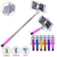 Мини портативный selfie палка монопод складная выдвижная ручной автопортрет палка для iphoe samsung android мобильный телефон